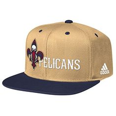 hot sales 92cd3 f6454 NBA New Orleans Pelicans Men s Team Nation Snapback Hat, One Size, Tan Navy  Wool Team Name   logo embroidered on front Two-tone visor with plastic snap  ...