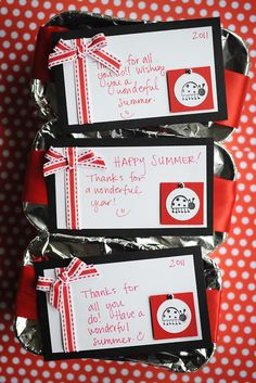 End of the School Year Teacher/School Staff Gifts