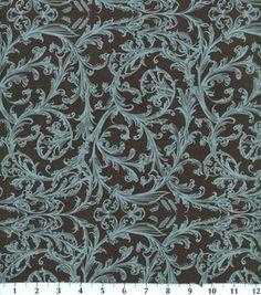 Keepsake Calico Fabric-Aqua Damask Scroll: keepsake calico fabric: quilting fabric & kits: fabric: Shop | Joann.com