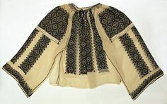 Romanian blouse The Metropolitan Museum of Art, New York Date: century Credit line: Bequest of Clarissa Gwendoline Condon, 1968 European Costumes, Folk Embroidery, Folk Costume, Embroidered Blouse, Metropolitan Museum, Traditional Dresses, Kimono Top, Style Inspiration, Clothes For Women
