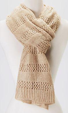 Beige Dotted Crochet Scarf