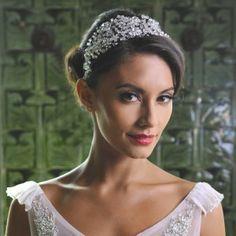 !902's flapper style Beaded Diamante Wedding Side Headband