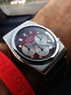 Vintage Zenith El Primero Chronograph :: omegaforums Fine Watches, Cool Watches, Watches For Men, Stylish Watches, Luxury Watches, Tic Toc, Time Design, Chivalry, Kettles