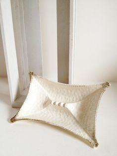 Midcentury modern ashtray rectangular white by TheHaystackNeedle1, $9.00