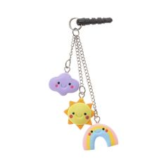 Sunshine, Cloud & Rainbow Charms Phone Plug, Phone & Tablet Accessories, all, Phone Plugs, Accessories, Accessories Fashion trends, accessories and jewellery for young women