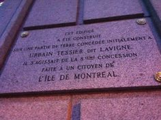 This building is erected on part of the original concession to Urbain, being the grant made to an individual in the island of Montreal. Monument Signs, Of Montreal, My Ancestors, Cultural Experience, Dit, Family History, Marie, The Originals, Monuments