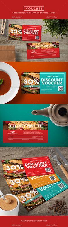 Voucher Card Template PSD #design Download: http://graphicriver.net/item/voucher-card/13376867?ref=ksioks