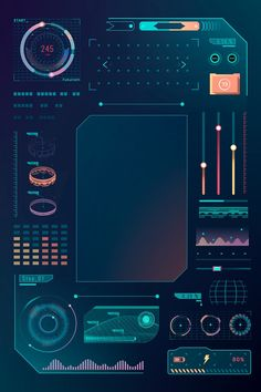 Download premium vector of Velocity technology interface template design elements vector by taus about teal blue background, cyber space, velocity technology interface template design element vector, radar, and velocity technology 1207003