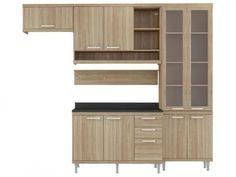 Cozinha Compacta Multimóveis Sicilia com Balcão - 9 Portas 3 Gavetas com as melhores condições você encontra no Magazine Durcemagalhaes. Confira!