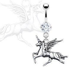 Pegasus Belly Ring