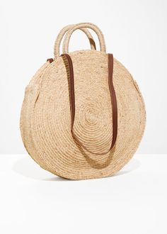 6e772e159da89 Straw Circle Bag - Beige -   Other Stories