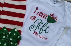 Baby Girl Christmas Outfit  onesie ruffle by DarlingLittleBowShop, $39.95