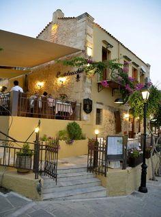 Castelvecchio Restaurant near the Rethymno (Rethymnon) fortress, Crete, Greece.