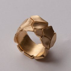 Parched Earth No.2 - 14K Gold Ring. - Designed and made by Arch. Doron Merav
