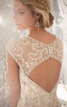 Gorgeous open, lace back