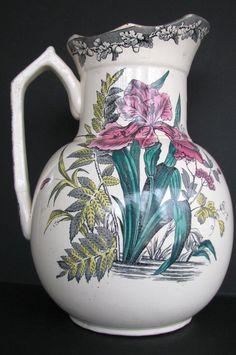 Antique Victorian Pitcher Aesthetic Iris