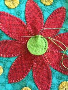 Ideas for Stitching Stems – Summer Stitch Along Part 8 – Trends and Traditions Applique Stitches, Hand Applique, Applique Quilts, Wool Embroidery, Hand Embroidery Patterns, Cross Stitch Embroidery, Bordados Tambour, Wool Quilts, Wool Art