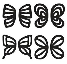 Butterfly template stencil for chocolate decorations for Martha stewart butterfly template