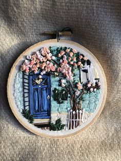 Nr. 2 Blossom Hand Embroidery art piece Embroidery hoop