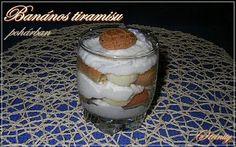 Banános tiramisu pohárban Food And Drink, Pudding, Recipies, Custard Pudding, Puddings, Avocado Pudding