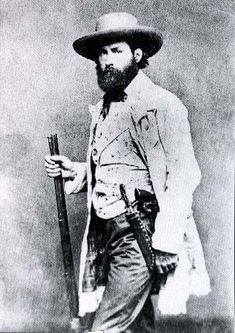 Frontiersman from 1860. Note the hat, not a cowboy hat. No Stetson's until later in the decade.