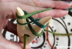 Viking Crafts: A Lucetted Necklace/Scarf | Vikings used these lucets to make cords and clothing. (Tutorial)