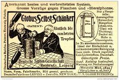 Original-Werbung/ Anzeige 1898 - GLOBUS SELBST-SCHÄNKER / DEUTSCHE SIPHON…