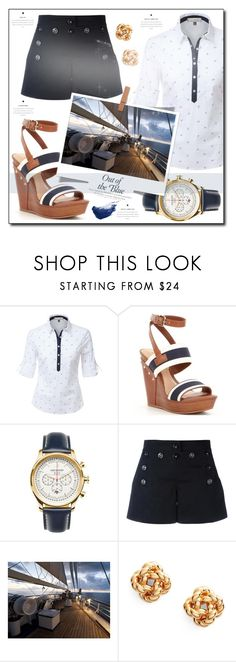 """""""Nautical"""" by tina-miholic ❤ liked on Polyvore featuring LE3NO, Gianni Bini, Jack Mason, Dolce&Gabbana, Tory Burch and By Terry"""