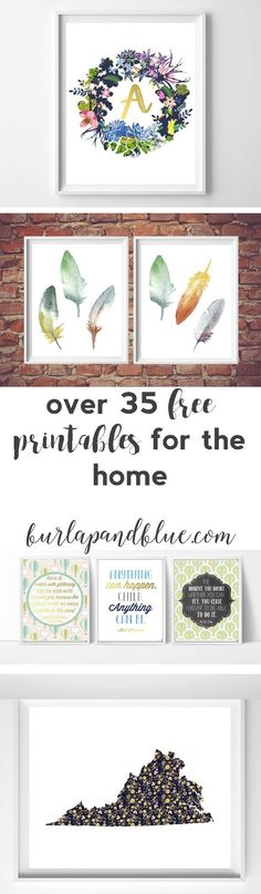 over 35 free printables for the #home! lots of printable art/wall art for your living room, #bedroom, nursery, and kids room!