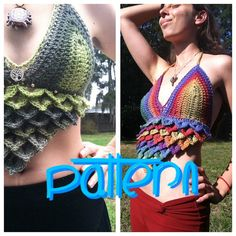 Check out our crochet halter top pattern selection for the very best in unique or custom, handmade pieces from our shops. Crochet Bikini Pattern, Crochet Halter Tops, Crochet Bikini Top, Crochet Top, Crochet Vests, Crochet Summer, Crochet Bags, Crochet Patterns, Crochet Christmas Stocking Pattern