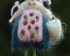 Items similar to TOOTH FAIRY needle felted wool doll fee angel faeries soft sculpture WALDORF inspired on Etsy Wool Dolls, Needle Felted, Wool Felt, Felted Wool, Tooth Fairy, Soft Sculpture, Faeries, Etsy, Teeth