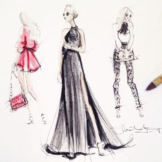 Sketching blogger Blair Eadie Instagram: @jeanettegetrost