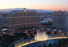 Bellagio, Las Vegas birds eye view