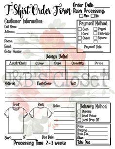 Tumbler Order Form Plus Fillable Form *SVGPNGJPG*