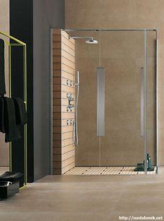 Душевая кабинка и ванная - дизайн ванной