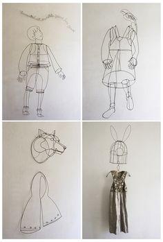 chizu kobayashi fairytale wire sculptures