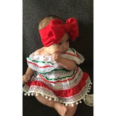 Mexican Fashion, Mexican Outfit, Mexican Dresses, Mexican Baby Dress, Outfits Niños, Baby Boy Outfits, Cute Baby Girl, Cute Babies, Traditional Mexican Dress