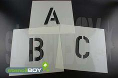 Buchstabenschablonen Set A-Z mit Sprühnebelschutz