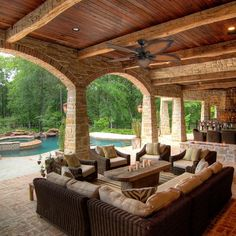 Rustic home design - Prominence Home Delray Tropical 52 Aged Bronze Damp Rated Ceiling Fan, Globe Globe Mocha Blades, 3 Speed Remote – Rustic home design Style At Home, Style Toscan, Italian Style Home, Italian Home Decor, Design Patio, House Design, Courtyard Design, Design Table, Mediterranean Style Homes
