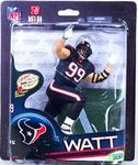 JJ Watt (Houston Texans) Collector Level Chase Action Figure Manufacturer: McFarlane Toys Series: McFarlane Toys NFL Sports Picks Football Series 33 Action Figures Release Date: November 2013 For ages: 4 and up Details (Description): McFarlane NFL Sports Picks Series 33 figurines delivers one of the most content relevant lineups in years, with SIX SportsPicks debuts (out of the seven figure lineup), including NFL legendary wide receiver Michael Irvin.