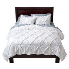 Target Home™ Puckering Comforter Set - White  Love the look of pucker white comforter cover with aqua sheets. Not buying this one though - bad reviews.