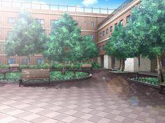 Anime Background School Outside Episode Interactive Backgrounds, Episode Backgrounds, Anime Backgrounds Wallpapers, Anime Scenery Wallpaper, Scenery Background, Cartoon Background, Video Background, Background Images, Casa Anime