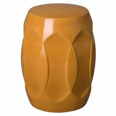 Ellipse Butterscotch Ceramic Garden Stool/Table by Emissary - Seven Colonial Ceramic Garden Stools, Wood Joinery, Kiln Dried Wood, Wood Species, Earthenware, Types Of Wood, Indoor Outdoor, Ceramics, Pedestal