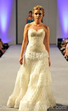 Carlos Vigil Couture Fashion Week New York 2013 #FashionWeek #Fashion #Couture #AndresAquino #Style #Women #Designer #Model #Dress #Sequence