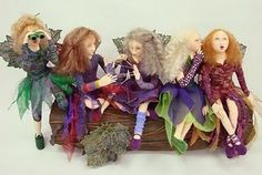 Handmade dolls - So fun and colorful.