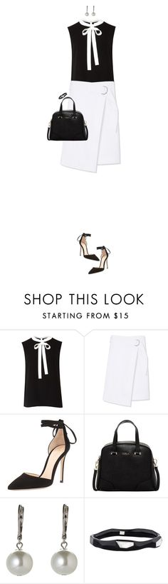 """""""Classic Black And White For Spring"""" by ittie-kittie on Polyvore featuring Ted Baker, Tory Burch, Gianvito Rossi, Furla, Givenchy, Ippolita, monochrome, blackandwhite, SpringStyle and springfashion"""