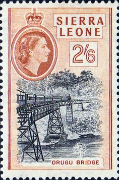 Sierra Leone 1956 SG 219 Orugu Bridge Fine Used SG 219 Scott 203 Other African stamps Here