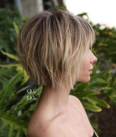 Short Choppy Bob With Bangs