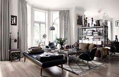 Designing a stylish living room interior requires a little creativity and some wonderful furnishings and decor brimming with character and personality. London Living Room, My Living Room, Living Room Interior, Home And Living, Living Spaces, Living Room Inspiration, Interior Inspiration, Design Inspiration, Masculine Interior
