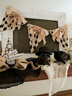 Halloween Decor, Halloween Banner, Vintage Halloween Decor, Halloween Garland…